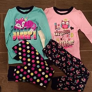 Other - Bundle lot of 2 girl's 5T pajama sets NWT PJ's